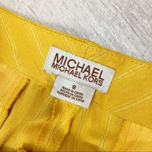 MICHAEL Michael Kors Pants - M Michael Kors Yellow Career Pinstripe Pants 1569